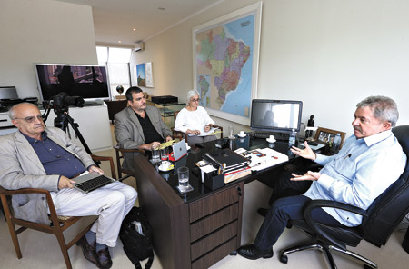 Lula con Sader y Gentili